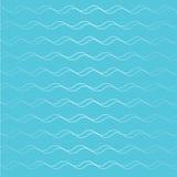 Onda abstrata da onda no fundo azul Fotografia de Stock