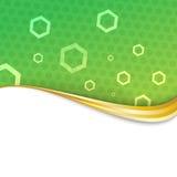 Onda abstrata verde do swoosh do cetim Imagem de Stock