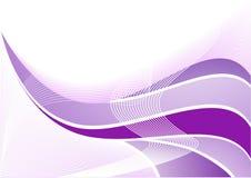 Onda abstrata violeta do vetor Fotografia de Stock