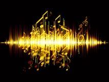 Onda acústica stock de ilustración