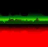 Onda acústica - concepto de la música libre illustration