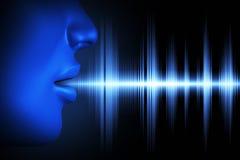 Onda acústica de la voz Fotografía de archivo