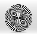 Onda acústica del círculo blanco y negro del eco ilustración del vector
