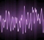 Onda acústica del seno electrónico Fotos de archivo libres de regalías