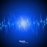 Onda acústica del vector Fotografía de archivo libre de regalías