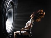Onda acústica potente foto de archivo libre de regalías