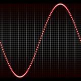 Onda acústica roja simple ilustración del vector