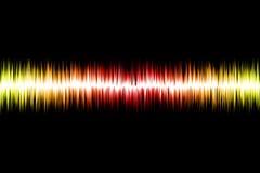 Onda acústica abstracta Imagen de archivo libre de regalías
