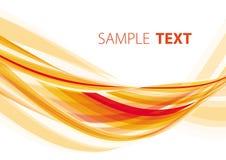 Onda anaranjada Imagen de archivo libre de regalías