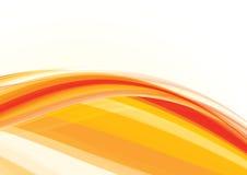 Onda arancione Immagini Stock Libere da Diritti