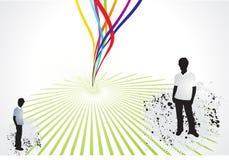 Onda astratta con il Rainbow theme2 Immagini Stock