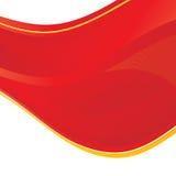 Onda astratta rossa illustrazione di stock
