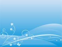 Onda azul imagens de stock