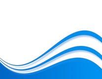Onda azul Imagen de archivo libre de regalías