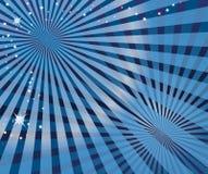 Onda azul abstracta Fotografía de archivo