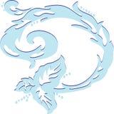 Onda azul abstracta Imagen de archivo libre de regalías
