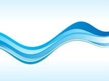 Onda azul abstrata Imagens de Stock