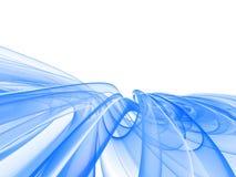Onda azul abstrata ilustração do vetor