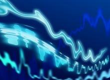 Onda azul de la energía Fotografía de archivo libre de regalías