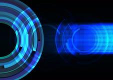 Onda azul de la frecuencia con la línea fondo del extracto Fotografía de archivo