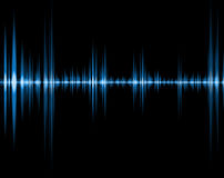 Onda azul del sonido Foto de archivo