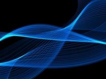 Onda blu-chiaro astratta Fotografia Stock