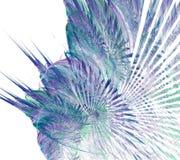 Onda blu e porpora di frattale di caos su fondo bianco illustrazione vettoriale