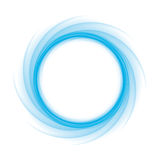 Onda blu rotonda Fotografie Stock
