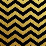 Onda brillante di zigzag dell'oro royalty illustrazione gratis