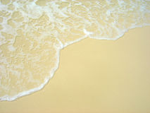 Onda che lava sulla spiaggia di Whitehaven Fotografie Stock Libere da Diritti