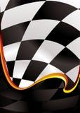 Onda Checkered dorata Fotografia Stock Libera da Diritti