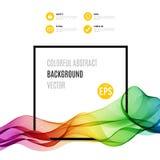 Onda colorida abstracta con el marco aislado encendido stock de ilustración