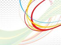 Onda colorida abstracta del arco iris Imágenes de archivo libres de regalías