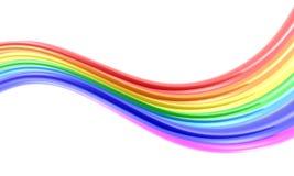 Onda colorida das curvas ilustração do vetor