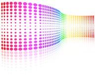 Onda colorida de los puntos de semitono stock de ilustración
