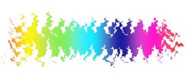 Onda colorida no fundo preto Imagem de Stock Royalty Free