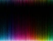 Onda colorida no fundo preto Fotos de Stock