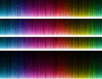 Onda colorida no fundo preto Imagens de Stock