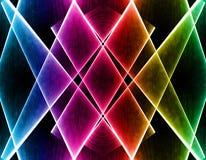Onda colorida no fundo preto Fotos de Stock Royalty Free