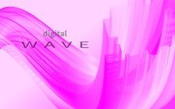 Onda cor-de-rosa dinâmica ilustração stock