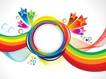 Onda creativa artística abstracta del arco iris libre illustration