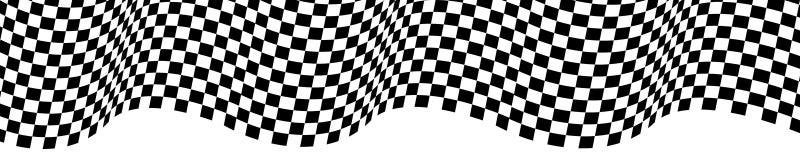 Onda a cuadros de la bandera en el diseño blanco para el vector del fondo del campeonato de la raza del deporte stock de ilustración