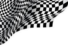 Onda a cuadros de la bandera en el diseño de espacio en blanco blanco para el vector del fondo del éxito empresarial del campeona Imagen de archivo libre de regalías