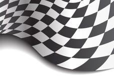 Onda a cuadros de la bandera en el vector blanco del fondo del campeonato de la raza del diseño Fotografía de archivo