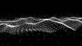 Onda 3d Onda futurista do ponto Fundo abstrato com uma onda din?mica ilustração do vetor