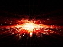 Onda d'urto rossa di musica Fotografie Stock Libere da Diritti