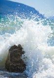 Onda da ressaca do mar Fotografia de Stock
