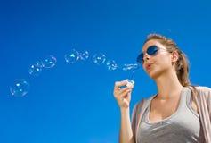 Onda das bolhas. fotografia de stock