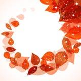 Onda das folhas de outono com sparkles Foto de Stock Royalty Free