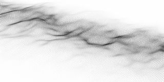 Onda das partículas Fundo abstrato com uma onda dinâmica Dados grandes Ilustração do vetor ilustração do vetor